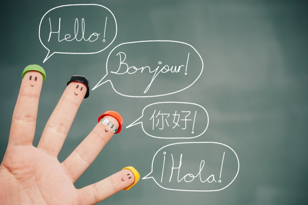 smiley fingers speaking different languages